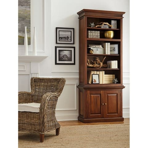 "Nova Solo Brown Mahogany 5-shelf Standard Bookcase - 9'9"" x 13'9"""