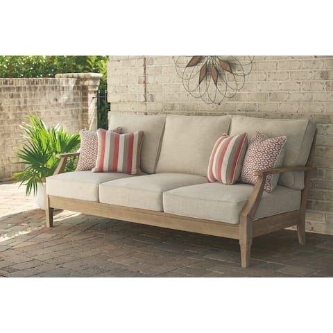 Clare View Outdoor Sofa with Cushion - Beige