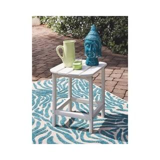 Signature Design by Ashley Sundown Treasure White Plastic Outdoor Rectangular End Table