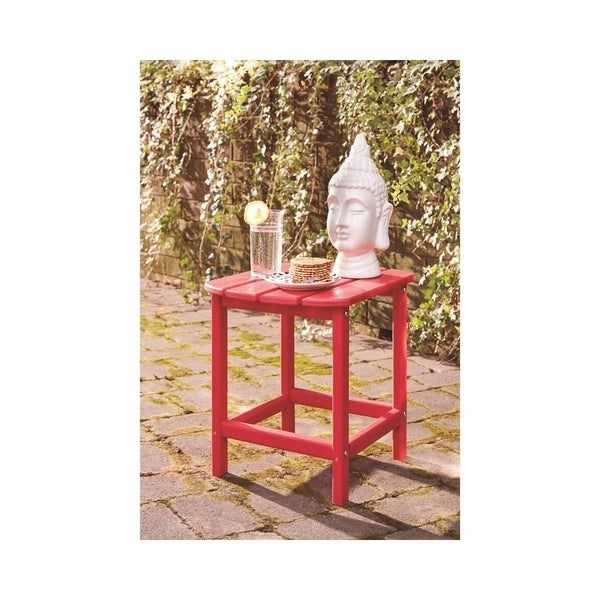 Signature Design by Ashley Sundown Treasure Red Outdoor End Table