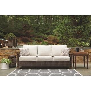 Paradise Trail Outdoor Sofa with Cushion - Medium Brown