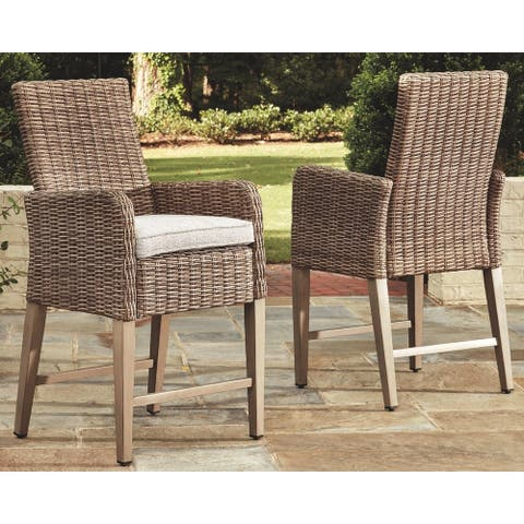 Sandestria Barstool with Cushion (Set of 2) by Havenside Home