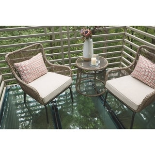 Cotton Road Outdoor Chairs and Table Set - 3-Piece Bistro Set - Brown