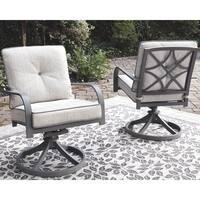 Donnalee Bay Outdoor Swivel Lounge Chair (Set of 2)- Dark Gray