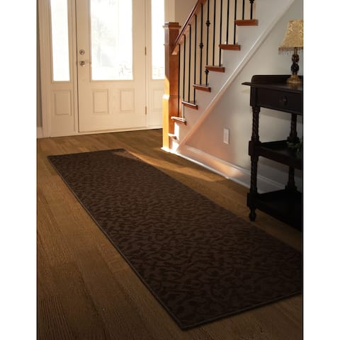 Ivy Chocolate Large Living Room Area Rug Runner