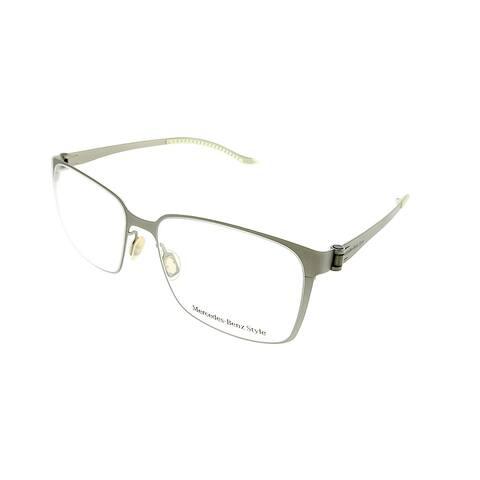 Mercedes Benz Square MB 6037 C Unisex Silver Frame Eyeglasses