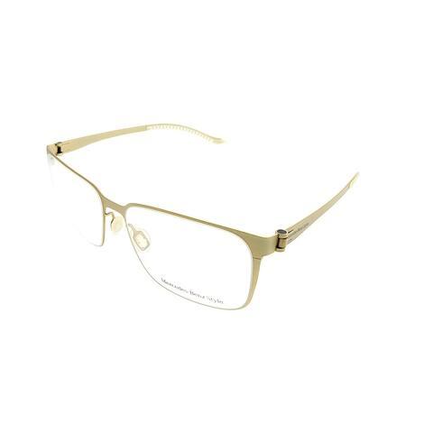 Mercedes Benz Square MB 6036 D Unisex Gold Frame Eyeglasses