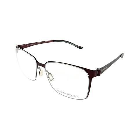 Mercedes Benz Square MB 6037 D Unisex Dark Red Frame Eyeglasses