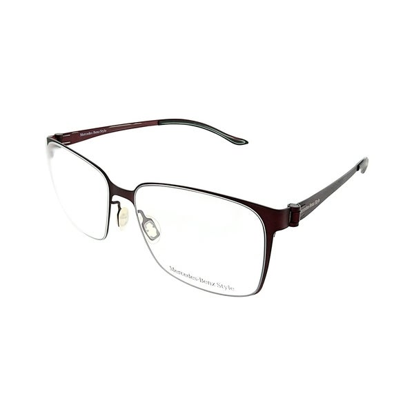 671be844c92 Shop Mercedes Benz Square MB 6037 D Unisex Dark Red Frame Eyeglasses ...