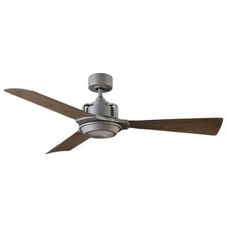 Osprey 56 Inch Three Blade Indoor / Outdoor Smart Ceiling Fan with Six Speed DC Motor and LED Light.