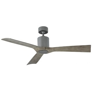Aviator 54 Inch Three Blade Indoor / Outdoor Smart Ceiling Fan with Six Speed DC Motor in Graphite Finish.