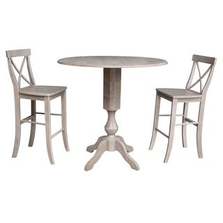 "42"" Round Pedestal Bar Height Table with 2 Bar Height Stools"