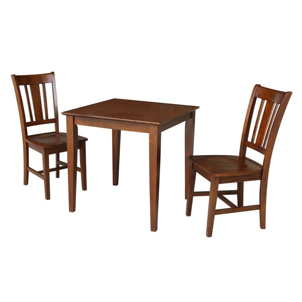 30x30 Dining Table With 2 Chairs In Espresso Free Shipping Today 25738259