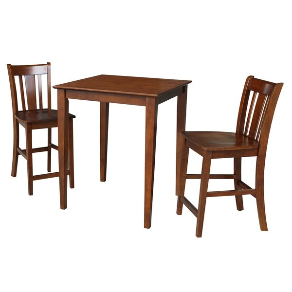 Newcastle Counter Height Dining Table 2 Chairs 2 Stools: Shop 30x30 Counter Height Dining Table With 2 Counter