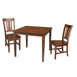 36x36 Dining Table with 2 Chairs in Espresso
