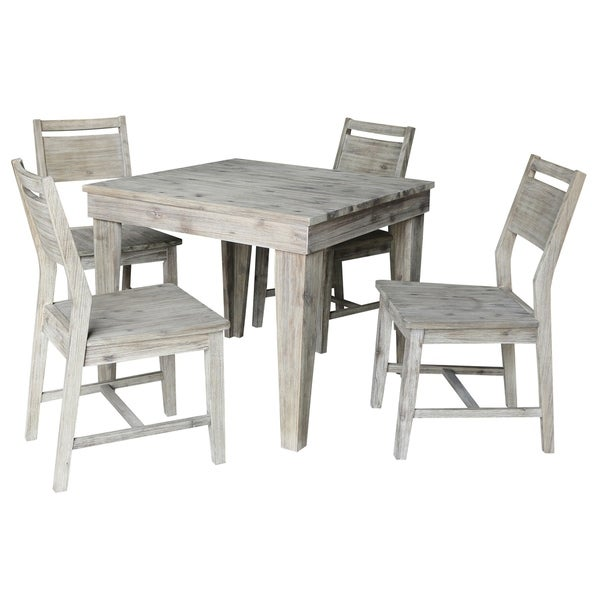 Solid Wood Table And Chairs: Shop Modern Rustic Solid Wood Table With 4 Chairs In