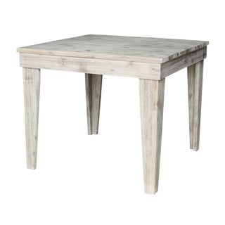 Modern Rustic Solid Wood Table in Rustic Gray Wash - rustic grey wash