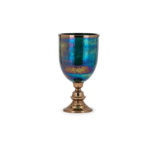 Astra Green and Gold Floor Vase