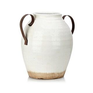 Trisha Yearwood Nightingale White Oversized Ceramic Vase with Handle
