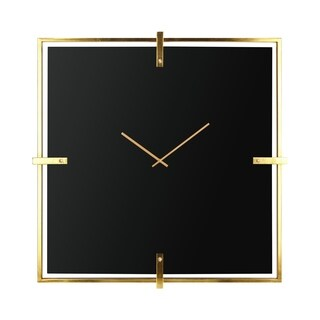 Connell Gold and Black Glass Wall Clock
