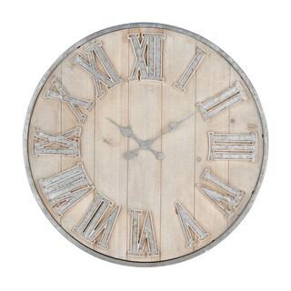 Adelaide Galvanized Grey Wall Clock
