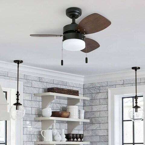 "Honeywell Ocean Breeze 30"" Bronze Small LED Ceiling Fan with Light"