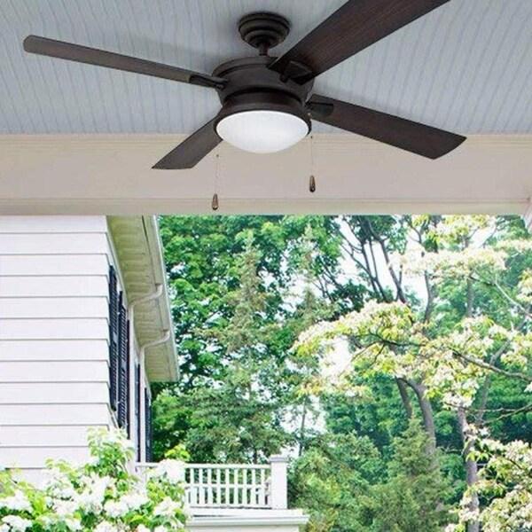 Copper Grove Ayre 52-inch Modern Matte Black Outdoor Ceiling Fan. Opens flyout.