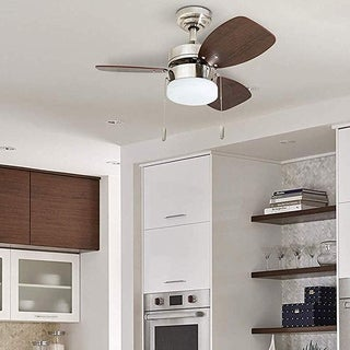 """Honeywell Ocean Breeze 30"""" Brushed Nickel Small LED Ceiling Fan with Light"""