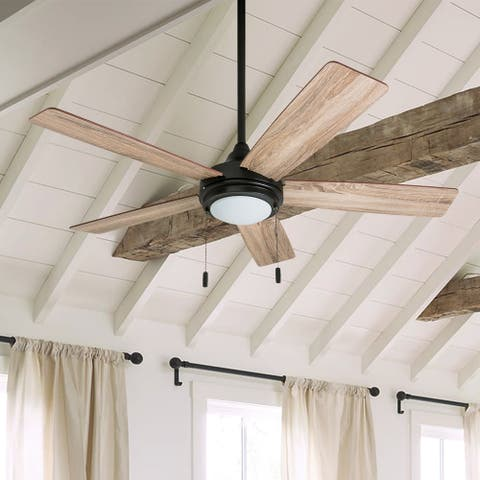 """Honeywell Ventnor 52"""" Modern Espresso Bronze LED Ceiling Fan with Integrated Light"""