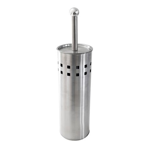 Splash Home Contemporary Stainless Steel Toilet Brush And Holder