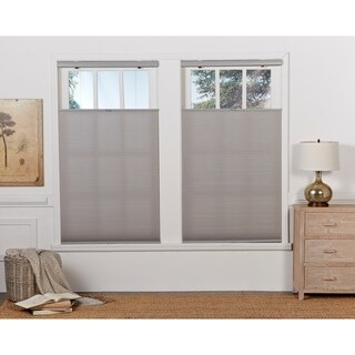 Grey Cloud Light Filtering Top Down Bottom Up Shade (72-inches long)
