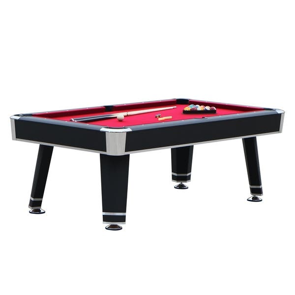 Shop Hathaway Jupiter 7 Ft Pool Table Black Finish Free