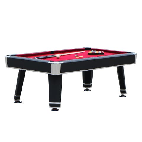 Hathaway Jupiter 7-ft Pool Table - Black Finish