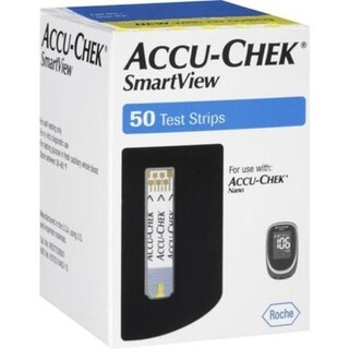 ACCU-CHEK SmartView Blood Glucose Test Strips 50 Count Box
