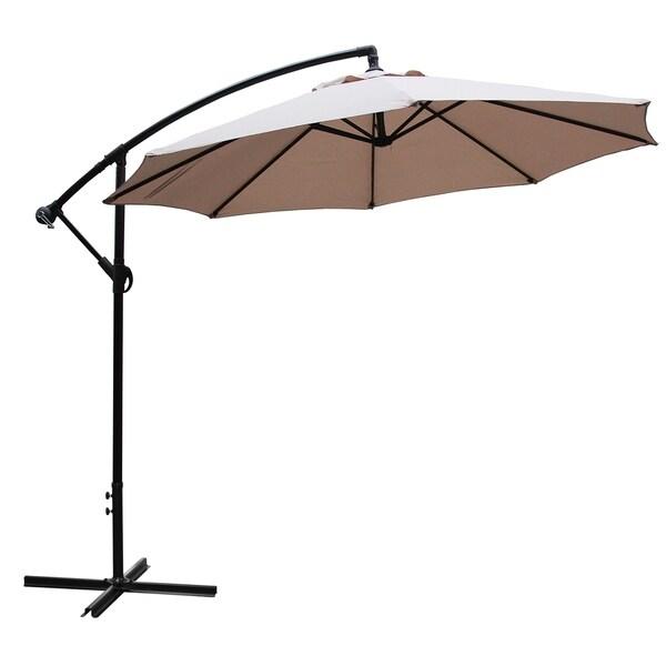 fa1807b7d8ff Shop Maypex 10 Feet Offset Patio Umbrella - Tan - On Sale - Free ...