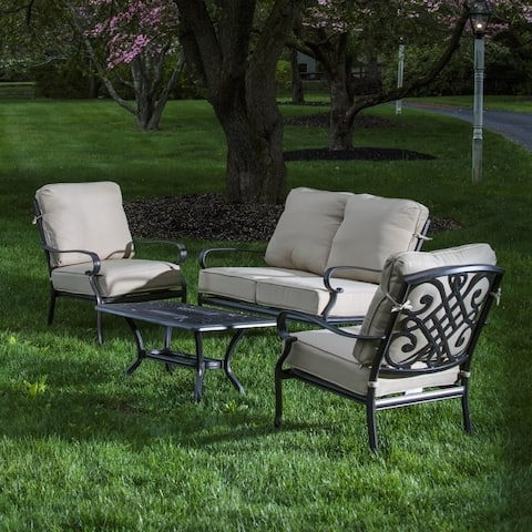 Newbury Cast Aluminum 5 pc Cushion Deep Seating Set