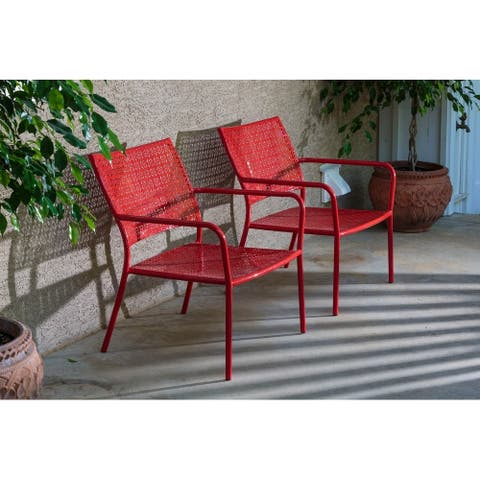 Set of 2 Martini Low Profile Lounge Chairs in Cherry Pie Finish