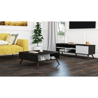 Bestar Small Space Krom 2-Piece 29.5-inch Storage Coffee Table and 53.5-inch TV Stand