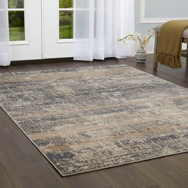 Shop Nicole Miller Kenmare Distressed Marbled Area Rug