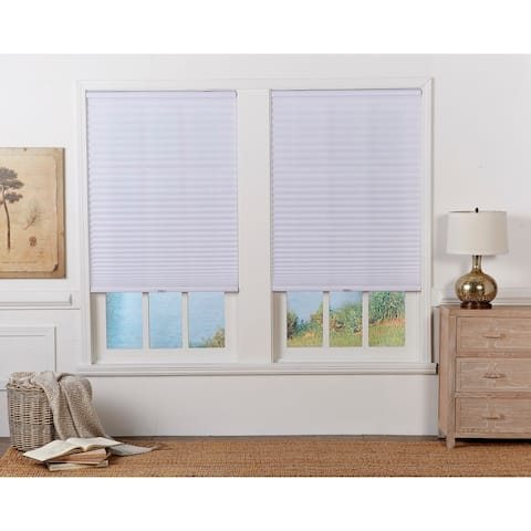 Copper Grove Yerevan 64-inch White Light-filtering Pleated Shade