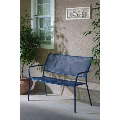 Martini Garden Bench, Etta Blue Finish