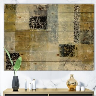 Designart 'Multicolor Twin City' Glam Print on Natural Pine Wood - Multi-color