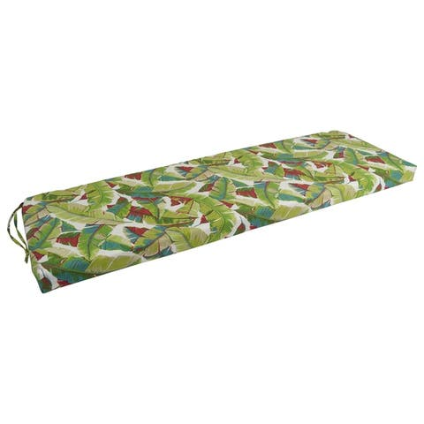 Blazing Needles 57-inch All-Weather Polyester Bench Cushion
