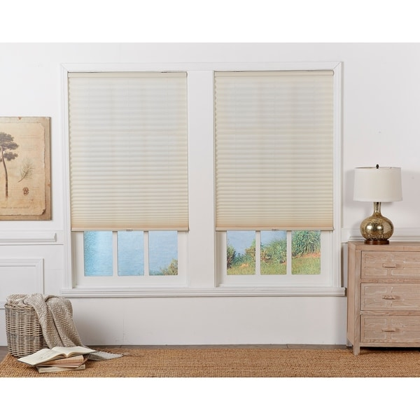 Copper Grove Yerevan Ecru Light-filtering Pleated Shade (72 in.). Opens flyout.