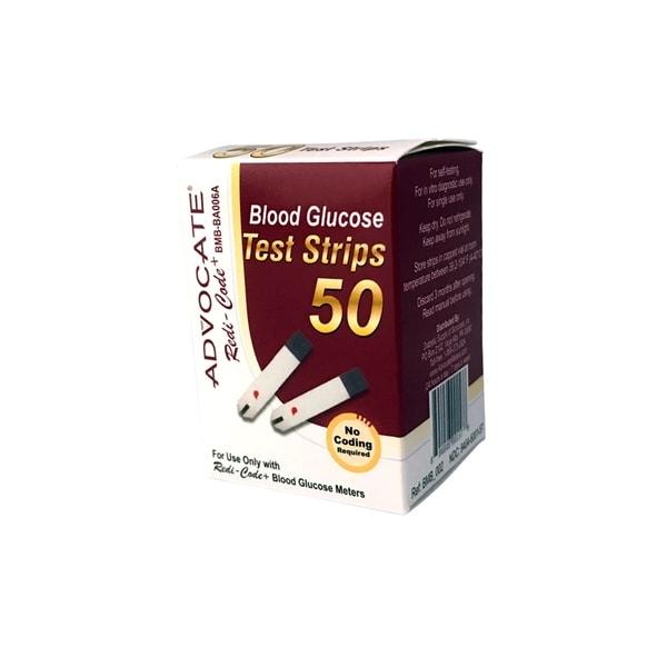 Advocate Redi-Code+ Blood Glucose Test Strips (Pack of 50)