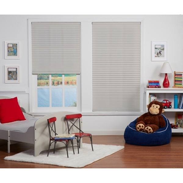Copper Grove Yerevan 72-inch Silver Grey Light-filtering Pleated Shade. Opens flyout.