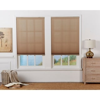 Camel Light Filtering Pleated Shade (72-inches long)