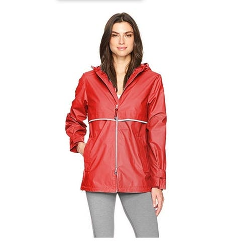 Charles River Women's Englander Rain Jacket Red