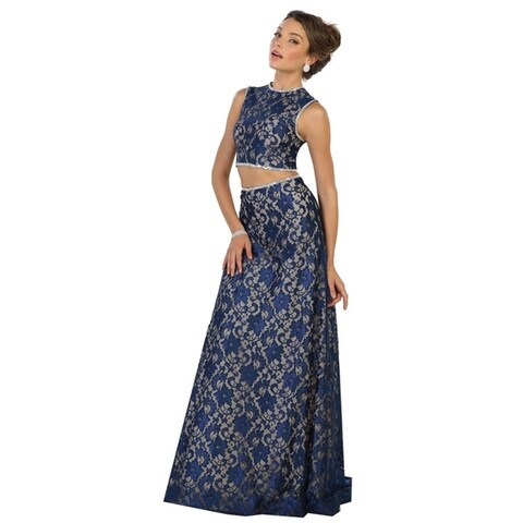 Two Piece Demure Evening Gown