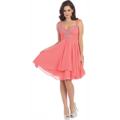 Sleeveless Short Graduation Dress